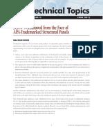 APA Technical Topic - TT-051 - Screw Withdrawl APA Panels