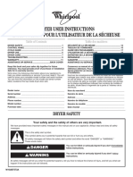 Dryer Use and Care Guide - W10287573