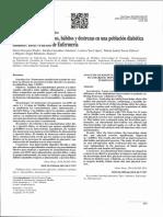 Análisis de conocimientos, hábitos y destrezas en una población diabética