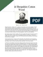 Peninah Shropshire Cotton Wood