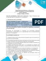 Guia de actividades y Rúbrica de evaluación - Unidad 2 -  Paso 3 - Resolver caso de aplicabilidad de la Bioética en investigación.pdf