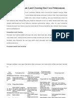 Pengertian Pekerjaan Land Clearing Dan Cara Pelaksanaan.docx