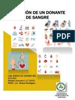 SELECCIÓN DE UN DONANTE DE SANGRE