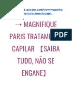 ➝ Magnifique PARIS Cabelo FORTALECIDO?【Saiba TUDO, NÃO SE Engane】