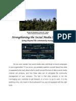Strengthening the Social Media Strategist
