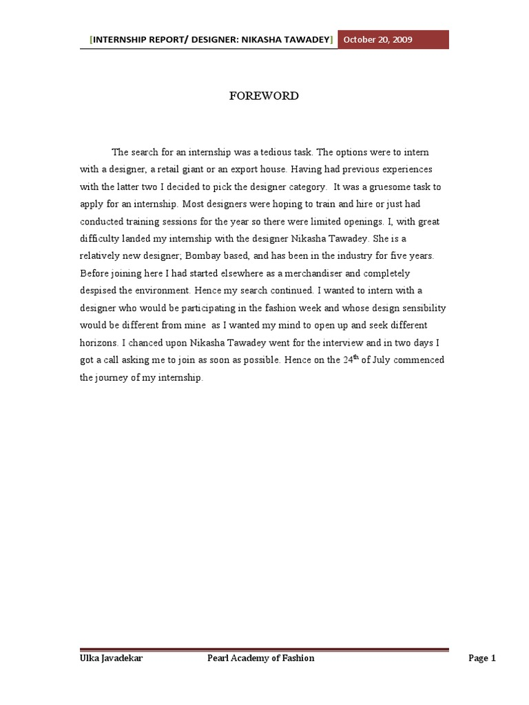 abstract for internship report The report must be written in english the title page and the abstract need to be written in english and greek, according to the template provided at the end of.