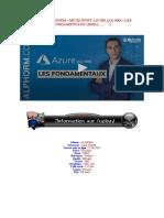 ALPHORM • MICROSOFT AZURE (AZ-900) • LES FONDAMENTAUX (2020)