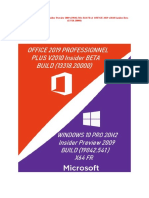 WINDOWS 10 PRO 20H2 Insider Preview 2009 (19042.541) X64 FR & OFFICE 2019 v2010 Insider Beta (13318.20000)