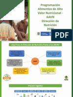 Presentación AAVN para puntos de distribucion
