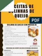 RECEITAS DE BOLINHAS DE QUEIJO