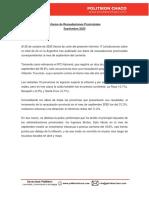 InformePolitikonChaco Recaudaciones Provinciales a Sep20