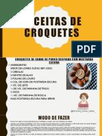 RECEITAS DE CROQUETES