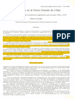 Bahr. 1980. Migraciones en el norte grande de Chile. Resultados de un análisis de movimientos migratorios entre los años 1965 y 1970.