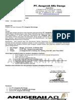 Lampiran Undangan Interview PT. Anugerah Alfa Omega