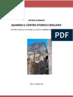 POPOLI QUANDO IL CENTRO STORICO CROLLERA'