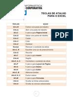 TECLAS DE ATALHO PARA O EXCEL