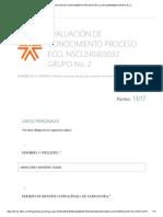EVALUACIÓN DE CONOCIMIENTO PROCESO ECCL NSCL240403032 GRUPO No. 2