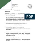 Laboratorio No. 1  Auditoría II  - 2018- Solución Sugerida-