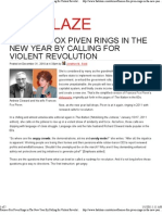 Frances Fox Piven Rings in The New Year By Calling for Violent Revolution