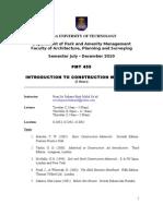 course outline PMT455-July 2010