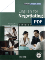 Muestra Oxford English for negotiating
