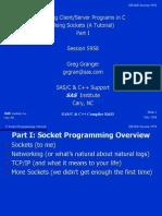 C Socket Programming Tutorial- Writing Client_Server Programs in C Using Sockets - Corporate Microcomputing Department