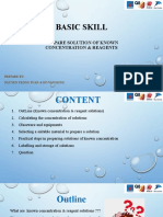 Basic Skill- Prepare Solution of Known Concentration