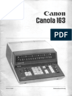 Canon Canola 163 Bedienungsanleitung (German)