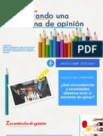 clase 14 primeros medios analizando columnas de opinión 31 de marzo