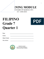 FILIPINO 7- 1st Quarter