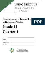 komunikasyon at Pananaliksik- 1st Quarter.docx