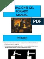 OPERACIONES DEL FORJADO MANUAL
