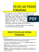 DEFECTOS DE LAS PIEZAS y SEGURIDAD