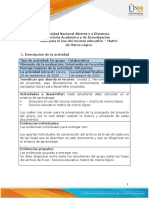 Guia para el uso del recurso educativo - Matriz de marco lógico
