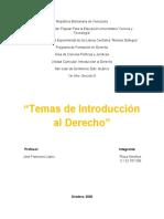 Introducción al Derecho, Tercer Lapso (Plaza Norelkys, 1er Año Sección 9)