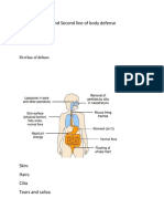 Function of First and Second line of body defense