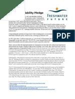 Freshwater Future - Water Affordability Pledge