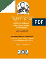 GUIA DE APRENDIZAJE ANTICOAGULANTES Y ANTIAGREGANTES (1)