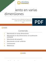 UNIDAD 4 - MOVIMIENTO EN VARIAS DIMENSIONES - FISICA I