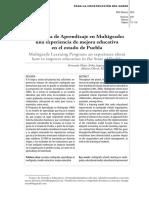 Programa de aprendizaje multigrado