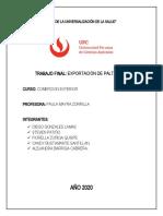 TRABAJO FINAL COMERCIO EXTERIOR - EXPORTACION DE PALTA HASS