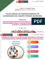 PRODUCTO SELLO MUNICIPAL PADRON NOMINAL 2020 DISTRITOS