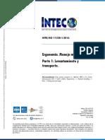 INTE ISO 11228-1 2016_Levantamiento y transporte