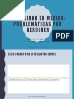 4.- Sexualidad en México- Problemáticas por resolver