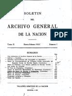 ARCHIVO GENERAL DE LA NACION BOLETIN 1931_N1