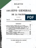 ARCHIVO GENERAL DE LA NACION BOLETIN 1931_N2