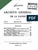 ARCHIVO GENERAL DE LA NACION BOLETIN 1931_N3