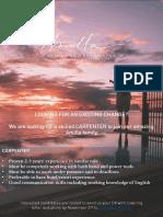 Job Vacancy Opening Carpenter (1)
