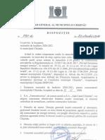 """Dispoziția nr. 593-d din 29 octombrie 2020 """"Cu privire la începerea sezonului de încălzire 2020-2021 în municipiul Chișinău"""""""