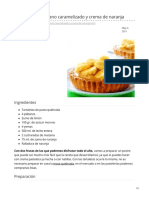 recetin.com-Tartaletas de plátano caramelizado y crema de naranja
